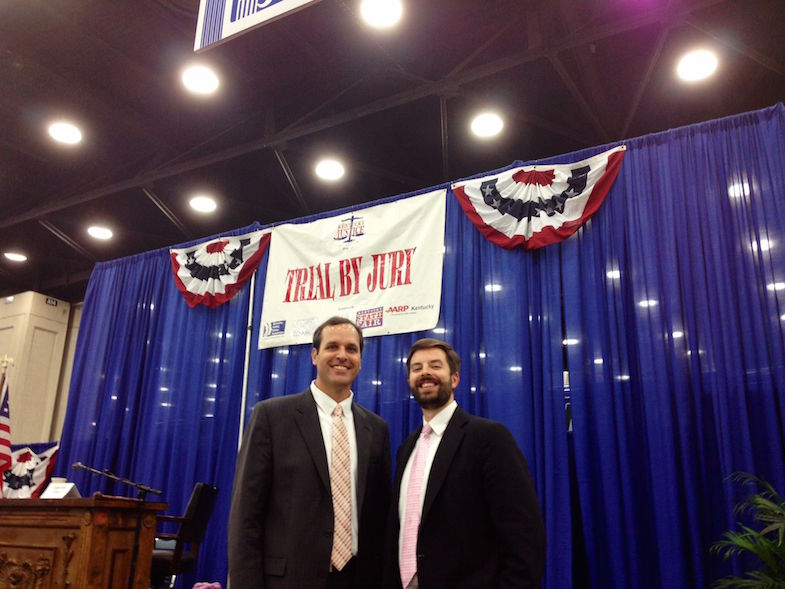 Justin Lawrence And Justin Sanders Put On Mock Trial Exhibitions At The Kentucky State Fair.